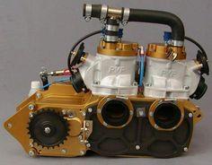 Dual crank 2 stroke twin