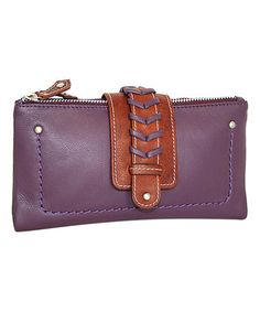 Loving this Purple Leather Tonya's Wallet on #zulily! #zulilyfinds