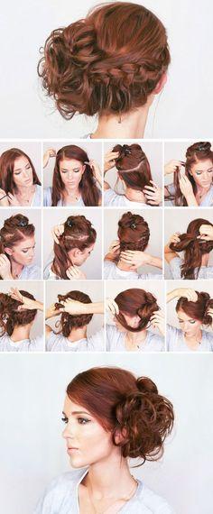 Easy Boho Updo s Braid | make-up Mania