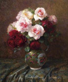 Pascal De Beucker (1881-1944) — Roses (660x800)