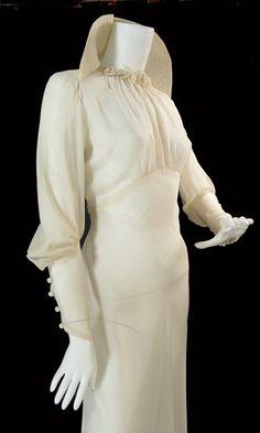 1930s Vintage Wedding Gown
