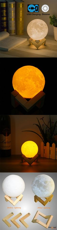 US$12.99 + Free shipping. 8cm Touch Sensor 3D Moon Lamp USB Color Changing LED Luna Night Light Kids Gift. Brilliant Design- Rechargeable battery and USB charging (include cable without Adapter) >>> To view further, visit now.