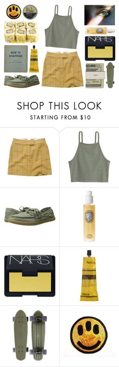 """""""and you can call this the funeral"""" by yonderly ❤ liked on Polyvore featuring Joules, sanuk, Diptyque, NARS Cosmetics, Aesop, Jack Spade and The Body Shop"""
