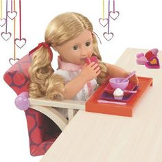 Our Generation Picnic Table Accessory Set for any 18 or 45cm doll Babypuppen & Zubehör