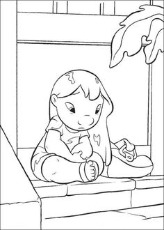 Lilo at home coloring page. Do you like this Lilo at home coloring page? There are many others in Lilo and Stitch coloring pages. Find your favorite Lilo . Stitch Coloring Pages, Cool Coloring Pages, Disney Coloring Pages, Coloring Pages To Print, Adult Coloring Pages, Coloring Pages For Kids, Coloring Books, Lilo Y Stitch Dibujo, Lilo Og Stitch