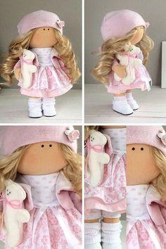 Hecha a mano muñeca juguete Tilda muñeca por AnnKirillartPlace: