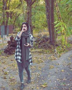 Pinterest: @adarkurdish Iranian Women Fashion, Muslim Fashion, Hijab Fashion, Hijabi Girl, Girl Hijab, Iranian Beauty, Cute Muslim Couples, Persian Girls, Photography Poses Women