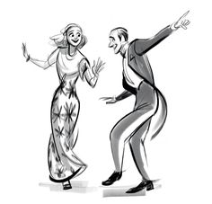 """""""They All Laughed"""" from 'Shall We Dance', 1937 / by ncdoodles (formerly scribbledigooks)"""