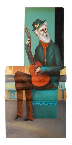 Artist Creates Stunning Art Using Old Books as His Canvas