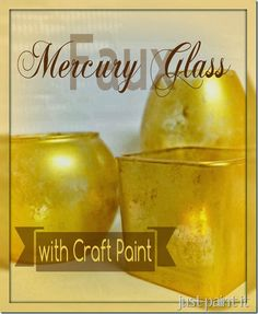 create faux mercury glass in ANY color on ANY glass piece using only metallic craft paints!