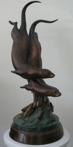 otter sculpture - Google Search