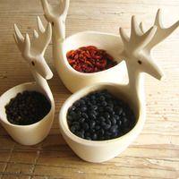 hand-carved deer bowlset - c o l l e c t i o n s - m e x c h i c