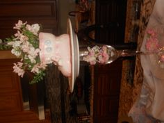 Ceramic Bootie flower vase from the 40's this was a real find and for our Girl.....