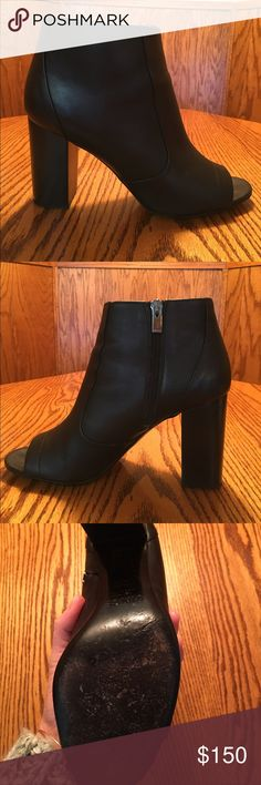 VINCE OPEN TOE BOOTIE VINCE open toe Fionn booties.  Only wear on soles.  Comfortable and very stylish!  Includes original box. Vince Shoes Ankle Boots & Booties