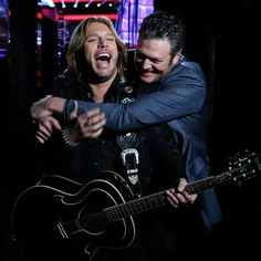 "Blake with team member Craig Wayne Boyd. I like that he ""knows who he is"" with deep roots in country music!"