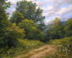 Plein air artist from Vermont, Andrew Orr, A Hint of Autumn by Andrew Orr Oil ~ 20 x 24
