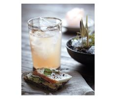 The White Nixon: ruby red grapefruit juice, white tea, lavender, and vodka | 100 Layer Cake