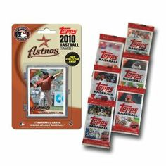 Houston Astros 2010 MLB Team Set by Topps. $9.99. Trading Cards-Team Sets. Sport: Baseball. Team: Houston Astros. MCT10BBHOU Features: -Team set.-Baseball sport, MLB league.-Houston Astros team.-Official 2010 Topps MLB Team set-the official card of Major League baseball.-Set contain 17 cards, one of which is a bonus exclusive to the set.-Bonus of 6 Topps packs from 2010 Topps so you can obtain players from other teams as well.-Each pack have the classic Topps gum we all...