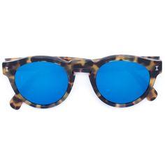 Illesteva 'Leonard C.62' sunglasses (153.770 CLP) ❤ liked on Polyvore featuring accessories, eyewear, sunglasses, brown, tortoiseshell sunglasses, tortoise sunglasses, illesteva, illesteva glasses and illesteva sunglasses