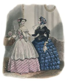 Fashion Plate - Le Moniteur de la Mode, 1853