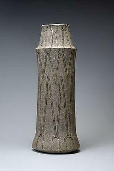 Vessel 1974, 1974  Glazed stoneware  17 1/2 x 6 7/8 x 5 3/4 in.  Inv# 7929  POR Image