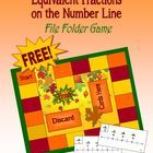 Autumn Equivalent Fractions File Folder Game is aligned with Common Core Math Standards.  (CCSS 3.NF.3a)  Students will find the equivalent fractio...