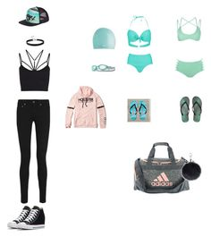 """""""what I take to swimming"""" by richellestyles ❤ liked on Polyvore featuring Boohoo, Aéropostale, adidas, Hurley, NIKE, TYR, Yves Saint Laurent, Sweaty Betty and Hollister Co."""