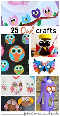 Arty Crafts Kids - Crafts - Craft Ideas for Kids - 25 Owl Crafts for Kids Arty Crafts Kids - Crafts - Craft Ideas for Kids - 25 Owl Crafts for Kids Owl Crafts Kids, Animal Crafts For Kids, Craft Projects For Kids, Craft Activities For Kids, Preschool Crafts, Craft Ideas, Owl Kids, Fall Crafts, Diy Gifts For Kids