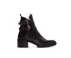 Image 1 of LEATHER ANKLE BOOT from Zara