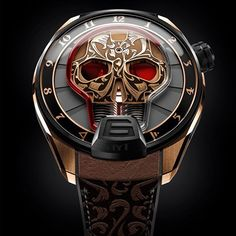 This HYT Novelty Skull Watch, HYT decided to highlight the Skull shape with a very rare and traditional hand engraving like the Maori tribal tattoo.