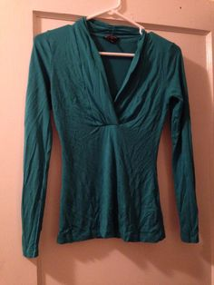 Banana republic teal v-neck T, pxxs