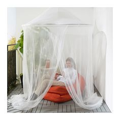 Could hand mosquito netting over seating area | SOLIG Net  - IKEA