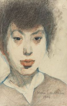 Marie Laurencin. Self portrait, 1906.