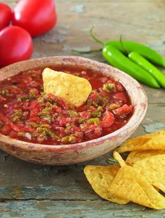Rustic Molcajete Salsa #Recipe - Get a taste of this spicy traditional recipe from the Taste of México Sweepstakes.