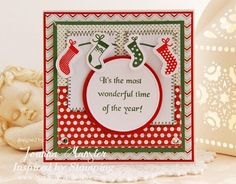 Inspired by Stamping, Joanna Munster, Christmas Greetings stamp set, Holiday Ornaments, Christmas card