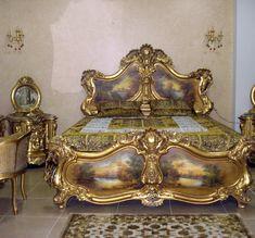 1-4 Royal Furniture, Gothic Furniture, Oriental Furniture, Unique Furniture, Luxury Furniture, Bedroom Furniture, Furniture Design, Baroque Decor, King Bedroom Sets