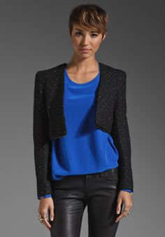 FUNKTIONAL Convertible Sprinkle Blazer in Black at Revolve Clothing - Free Shipping!