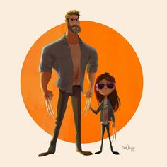 Logan: The Cartoon Tribute to a great film and a fantastic performance from Hugh Jackman. Best Wolverine movie in my opinion- for being so dramatic, grown-up, very character-driven and beautifully shot. @thehughjackman @dafnekeen #art #illustration #characterdesign #fanart #marvel #xmen #wolverine #logan #cartoon #animation #movie #hughjackman #x23 #laurakinney #dafnekeen  #samnassour