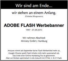 #Flash ist tot. Ein Nachruf in unserem Blog.