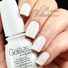 CHINA GLAZE Gelaze - White on White