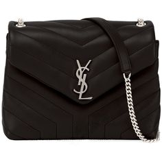 93f1f50b86 Saint Laurent Loulou Monogram Small Y-Quilted Leather Chain Bag ( 1
