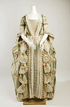 Robe à la Française    1770    The Metropolitan Museum of Art  The trim is like ribbon candy.