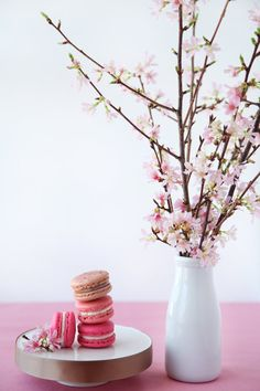 Cherry Blossom Macarons (via Pink Plus Week: Cannelle Et Vanille - The Bride's Guide : Martha Stewart Weddings)
