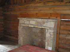 Fireplace inside of Laura Ingalls Wilder Cabin Pepin, WI by Library Grandma, via Flickr