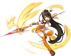 Ara from Elsword 2d Character, Character Concept, Character Design, Chica Anime Manga, Kawaii Anime, Neko, Fighting Drawing, Sword Poses, Elsword Game
