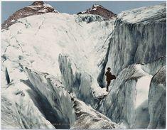 Photochrome, Crevasse Formation in Illecillewaet Glacier, Selkirk Mountains, c. 1902