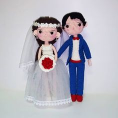 #crochetpattern #crochetwedding #crochetcouple #crochetamigurumi #crochettoys #crochetlove #crochetedesigner #crochetcoupledoll… Wedding Doll, Crochet Wedding, Amigurumi Doll, Crochet Toys, Minnie Mouse, Disney Characters, Fictional Characters, Groom, Crochet Patterns