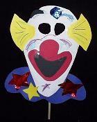Easy paper clown mask