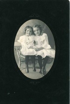 Lucille Mae and Edith Marie, the daughters of Henry McCormack of Ithaca, Michigan.