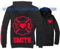I love my Firefighter emblem custom name Top - LOVEANDWARCLOTHING